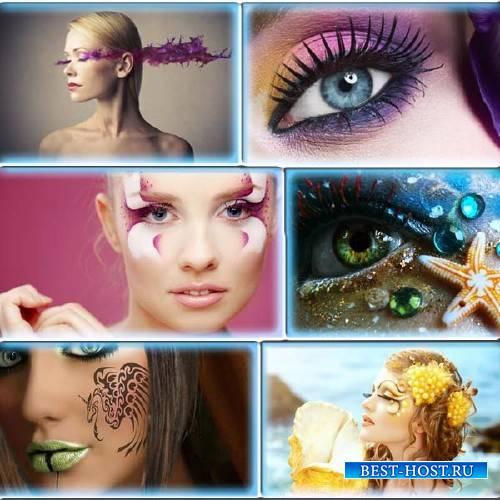 Фотоклипарт - Креативный макияж у девушек