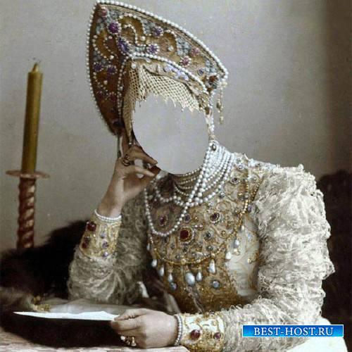 Женский шаблон - Княгиня русская в наряде