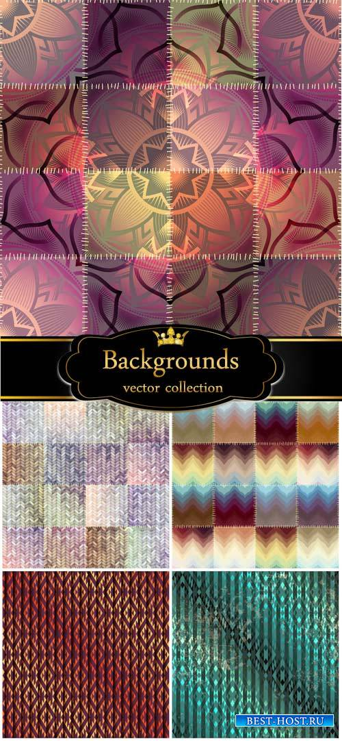 Vector backgrounds, abstract, texture