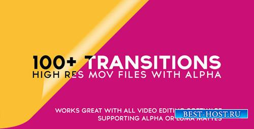 100 + Alpha Transitions Pack - Motion Graphics (Videohive)