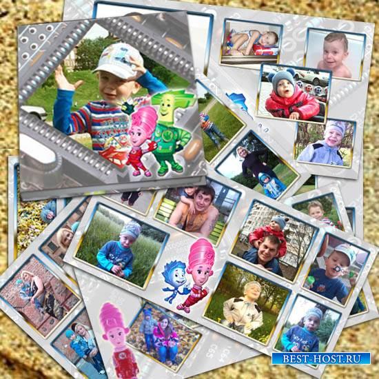 Детская фотокнига - С любимыми героями мультфильма