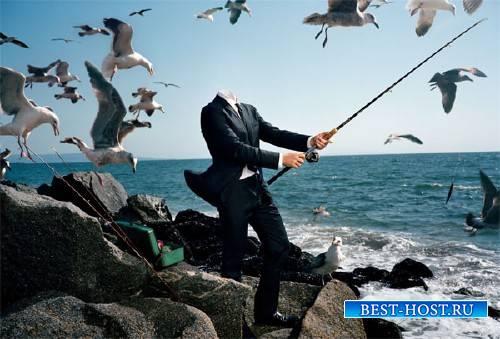 Фото шаблон - С офиса на рыбалку