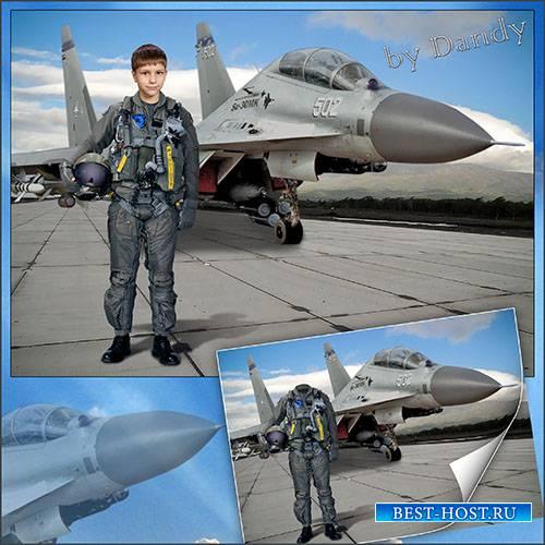 Шаблон для фотошопа летчик-истребитель