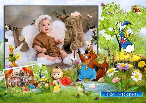 Детская рамка для фотошопа - Чудеса