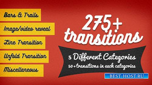 275+ Transitions - Project for After Effects (Videohive)