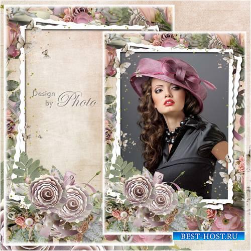 Цветочная рамка для фото - Винтажные розы