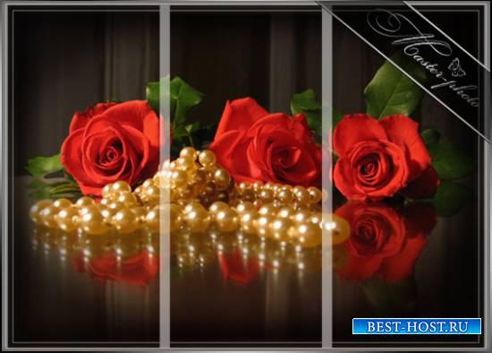 Романтическая модульная картинка - Блеск жемчуга