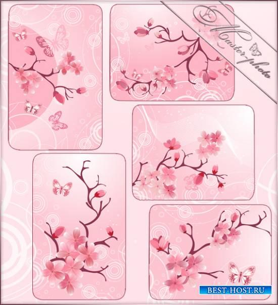 Набор весенних многослойных исходников - Сакура