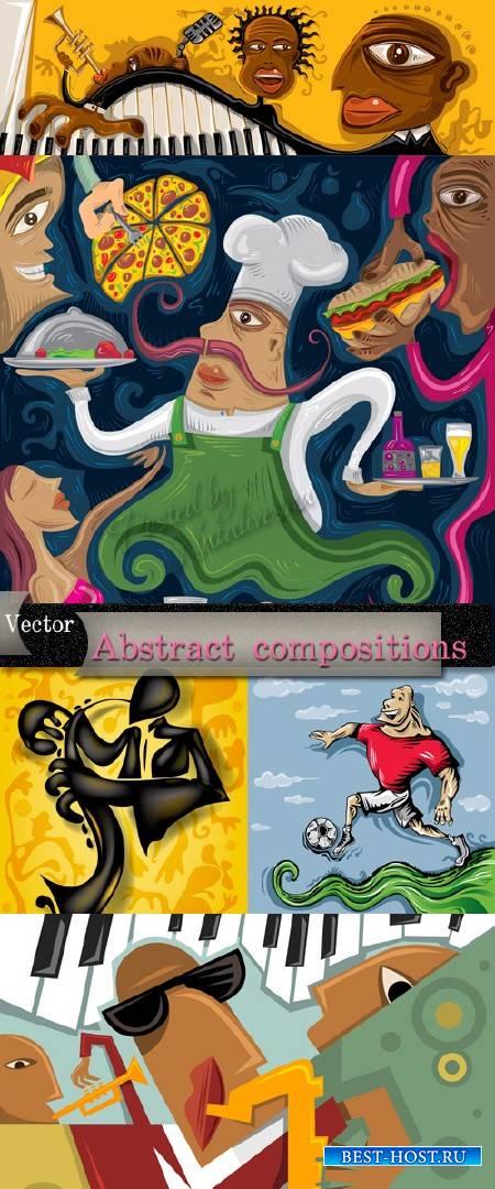 Фоны в Векторе на разные темы – Абстрактные композиции