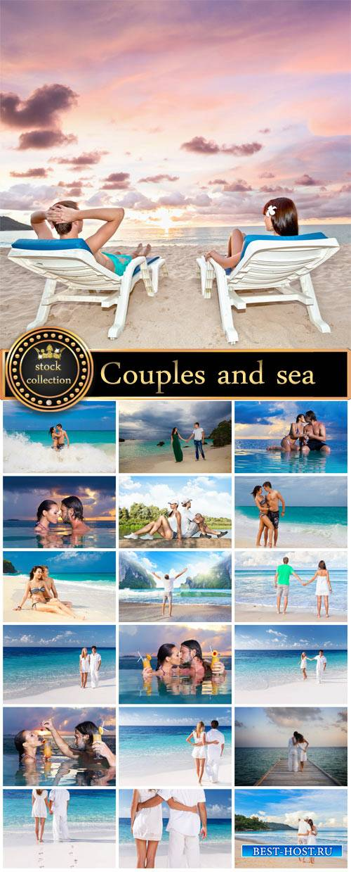 Couples and sea - Stock Photo
