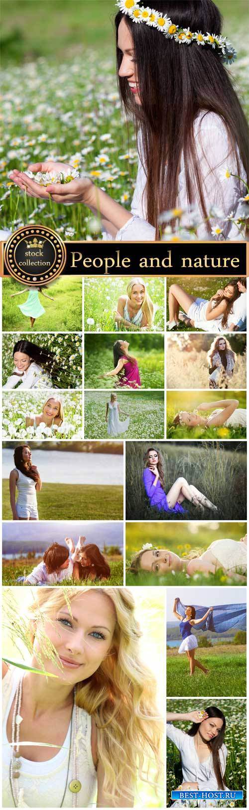 People and nature, women - stock photos
