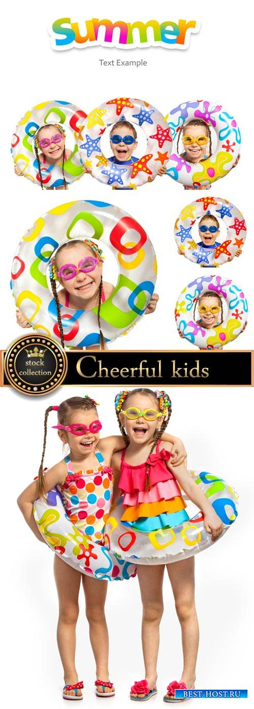 Сheerful kids and summer - stock photos