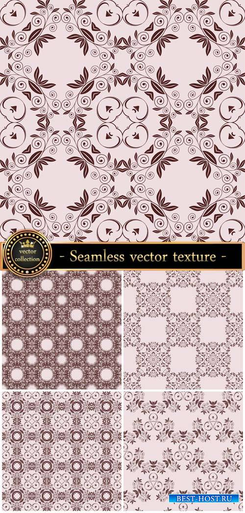 Seamless vector texture with beautiful patterns