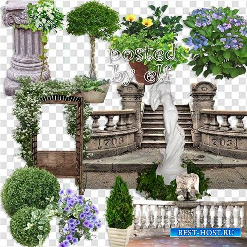Мой сад, как райский уголок - клипарт в png