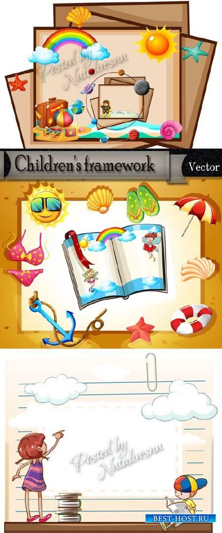 Подборка детских рамочек в Векторе – Летний праздник