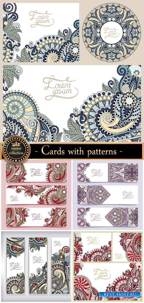 Vector banners and cards with patterns
