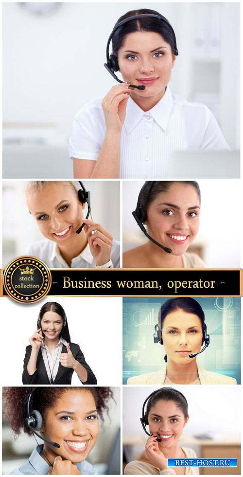 Business woman operator - stock photos