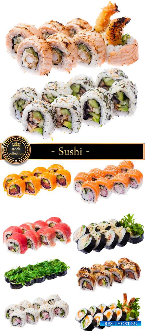 Sushi, eating seafood - Stock photo