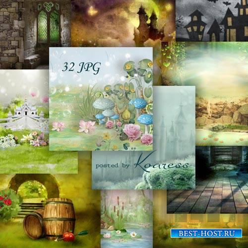 Набор jpg фонов для фотошшопа - Сказочный мир