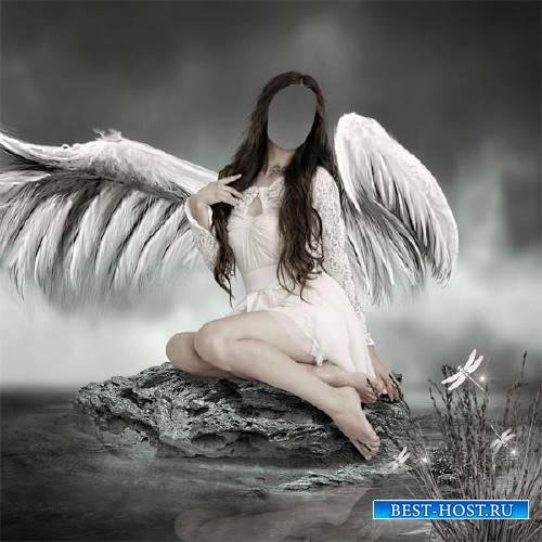 Шаблон для девушек - Ангел у воды