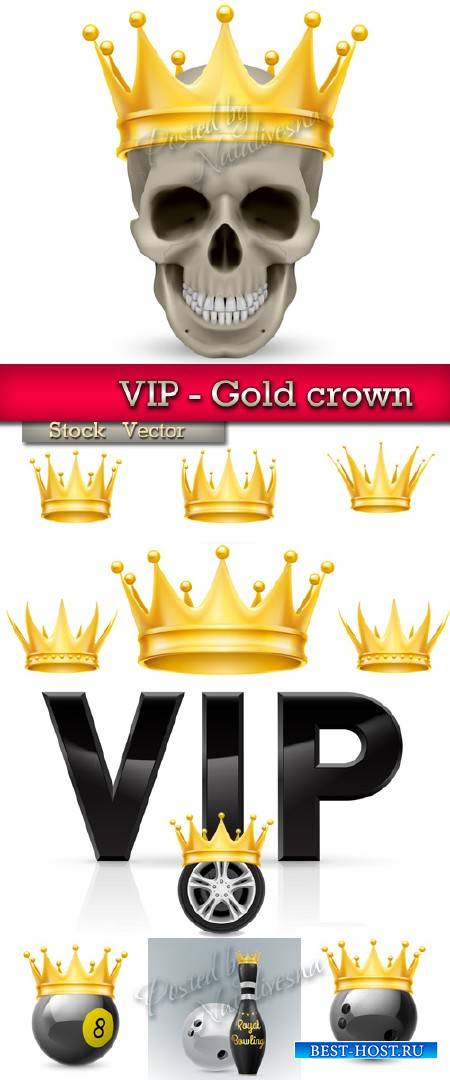 VIP - Gold crown in Vector