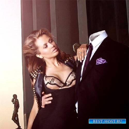Мужской шаблон - В обнимку с прекрасной девушкой