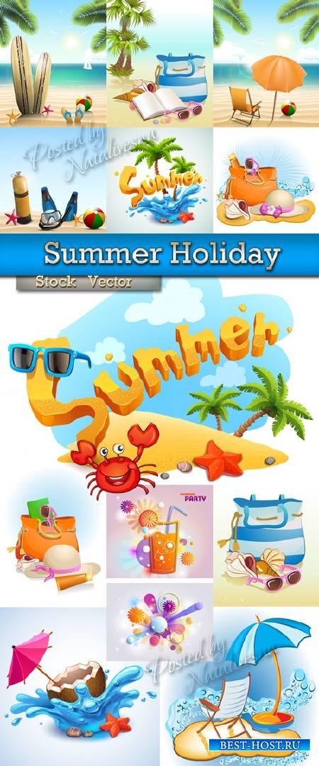Летний праздник  – Большая подборка в Векторе на тему лета