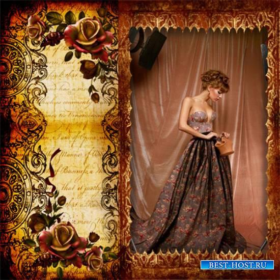 Рамка женская - О чём шепчут розы