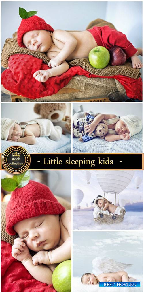 Little sleeping kids - stock photos