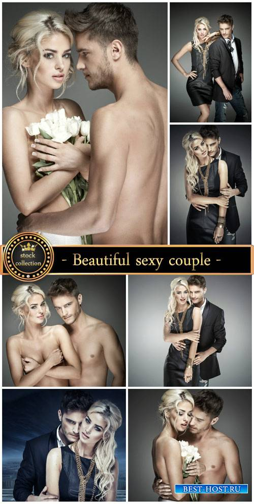 Beautiful sexy couple, man, woman - Stock Photo