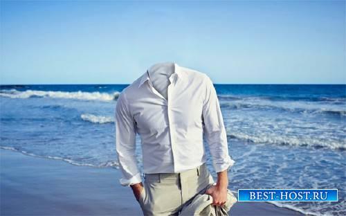Шаблон для фотомонтажа - В костюме на море