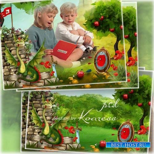Детская рамка для фотошопа - Любимые сказки