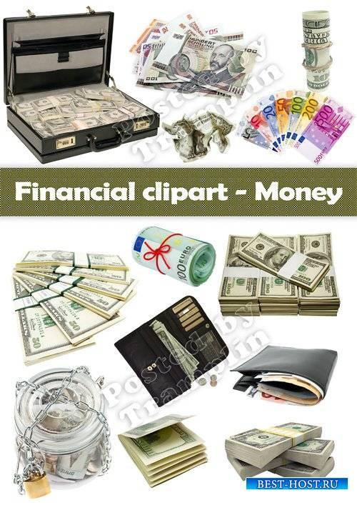 Клипарт – Деньги, финансы, доллары, евро, кошельки