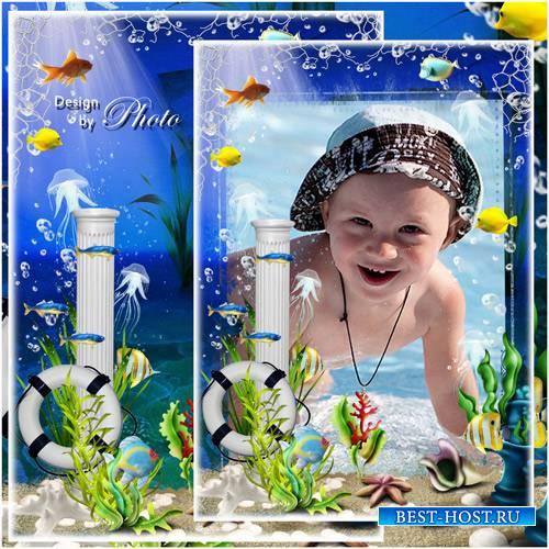 Морская рамка для фото - Под водой