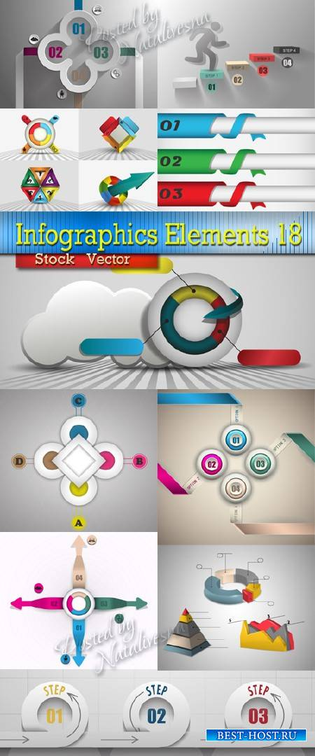 Infographics Elements Design in Vector  18