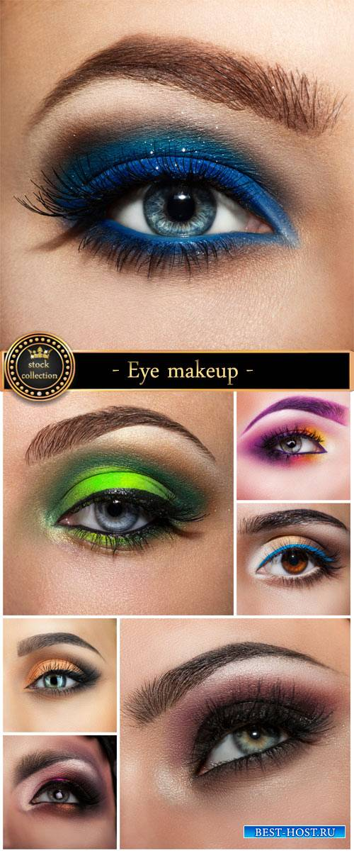 Eye makeup, fashion, style - stock photos