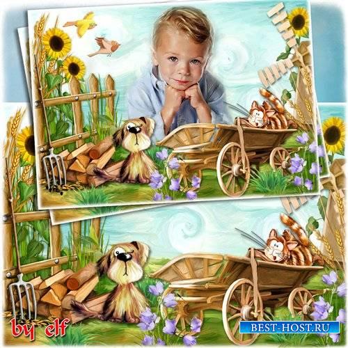 Детская фоторамка – В деревне у бабушки