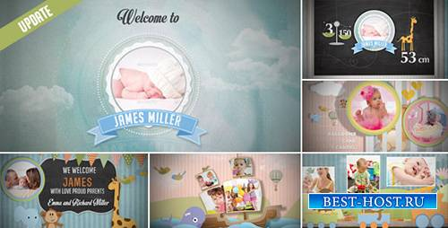Birth Announcement - Baby Photo Album - Project for After Effects (Videohiv ...