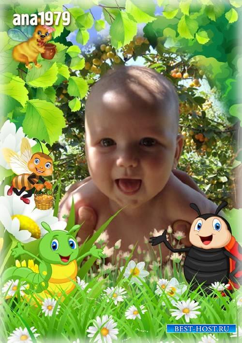 Рамка для фотошопа - Доверчивый ребёнок