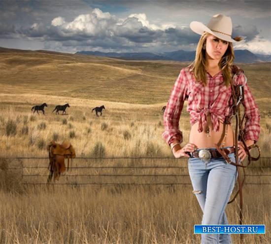 Шаблон  женский – На ранчо