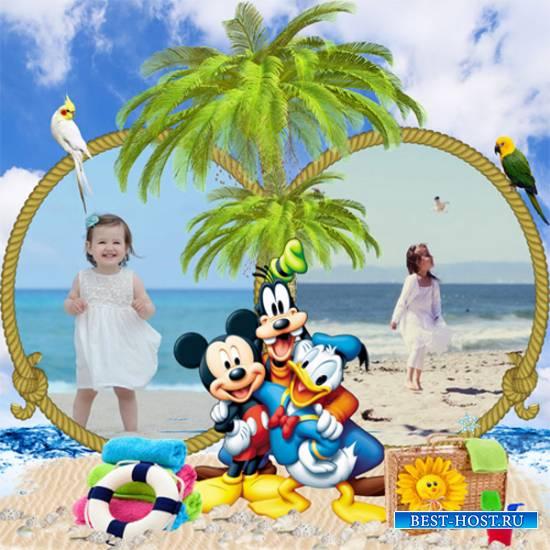 Рамка детская – Пляжный сезон