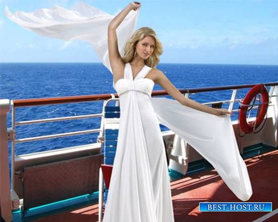 Шаблон  женский – Ветер с моря дул