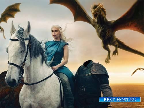 Шаблон для Photoshop - Рыцарь и принцесса