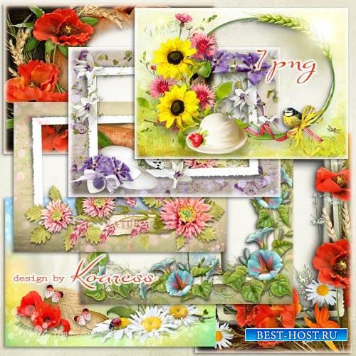 Набор рамок для фото - Летние цветы