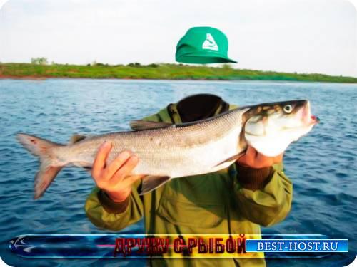 Фотошаблон для фото - Дружу с рыбой