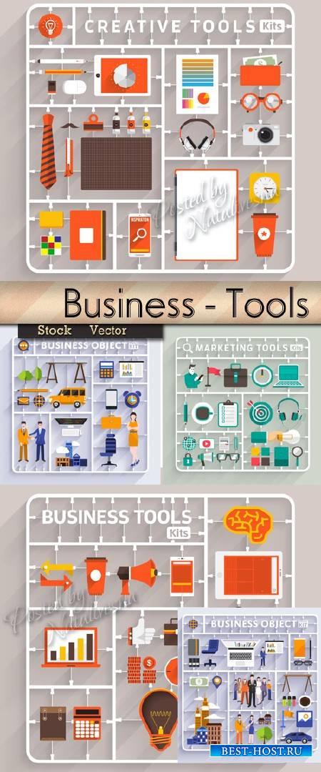 Коллекция инфографики в Векторе – Бизнес - инструменты