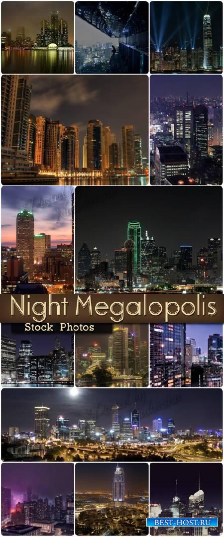 Ночная красота Мегаполиса – Stock photo