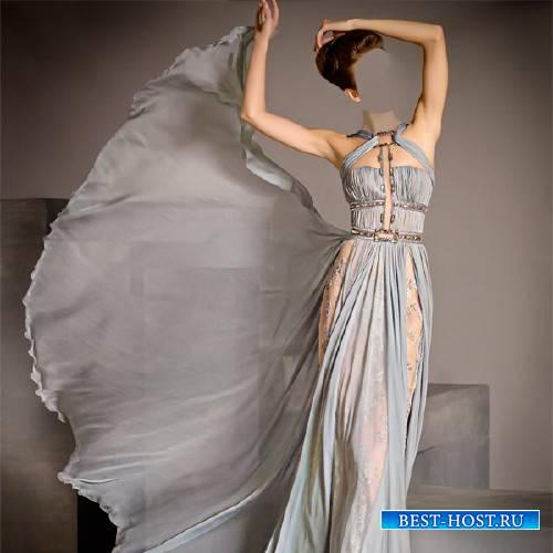 Шаблон для Photoshop - Фотосессия в красивом платье