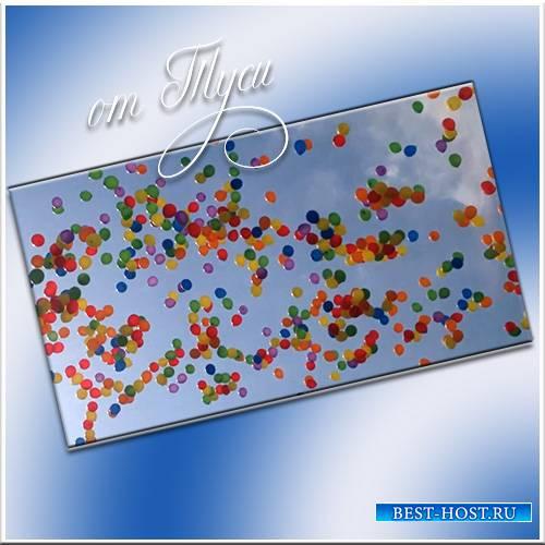 Воздушные шары в небе - Футаж
