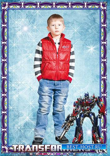 Фоторамка детская для мальчика - Трансформеры